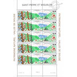 SAINT PIERRE MIQUELON N°586A FEUILLE TIMBRES NEUFS**