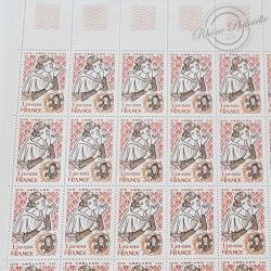 LOT DE 1560 TIMBRES 1,2FFr EN FEUILLES FACIALE 285 EUROS
