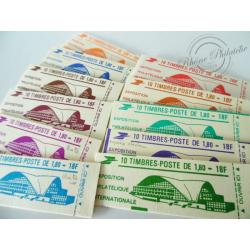 """CARNETS MODERNES 2220-C 3A SERIE """"PHILEXFRANCE 82"""" DE 11 CARNETS"""