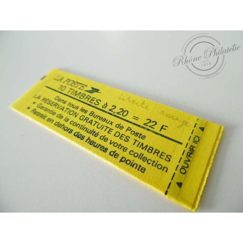 "CARNET MODERNE 2376-C 9A TYPE ""LIBERTE"" DELACROIX 2F20 ROUGE, 1985"