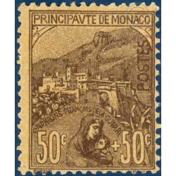 MONACO N°31 PRINCE ALBERT 1ER TIMBRE POSTE AVEC CHARNIERE