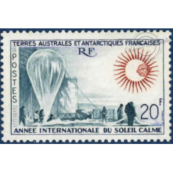 TAAF N°21 ANNEE INTENATIONALE DU SOLEIL CALME TIMBRE DE 1963