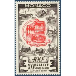 MONACO N°420 25e RALLYE AUTOMOBILE DE MONTE-CARLO , TIMBRE NEUF** 1955