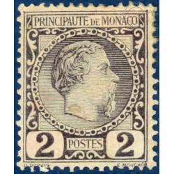 MONACO N°2 TYPE PRINCE CHARLES III TIMBRE AVEC CHARNIERE