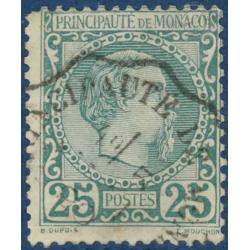 MONACO N°6 PRINCE CHARLES III TIMBRE POSTE OBLITERE