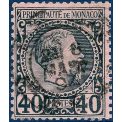 MONACO N°7 TYPE PRINCE CHARLES III TIMBRE OBLITERE