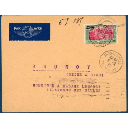 MONACO POSTE AERIENNE N°1, TIMBRE OBLITERE SUR ENVELOPPE 1933