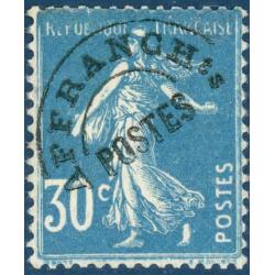 PREOBLITERE N°_60 TYPE SEMEUSE FOND PLEIN 30C BLEU, TIMBRE NEUF* 1922-47