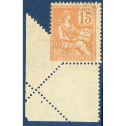 N°__117 TYPE MOUCHON ORANGE VARIÉTÉ PIQUAGE EN OBLIQUE, TIMBRE NEUF** 1900-1901
