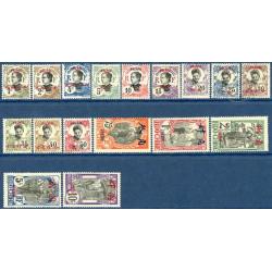PAKHOI N°_34 A 50 TIMBRES D'INDOCHINE SURCHARGÉS, NEUFS* 1908