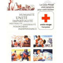"""CARNET """"ACTIONS DE LA CROIX-ROUGE"""" lettre verte BC1132"""