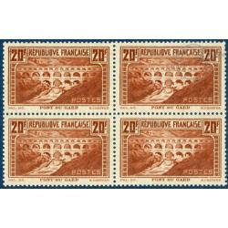 N°__262 PONT DU GARD, BLOC DE 4 TIMBRES NEUFS */** 1929