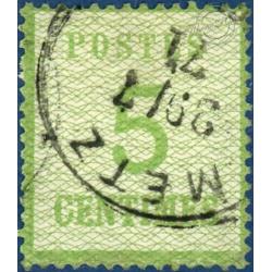 TIMBRE D'ALSACE-LORRAINE N°4b BURRELAGE RENVERSÉ, OBLITÉRÉ 1870