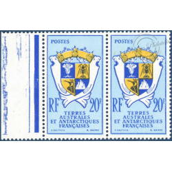 TAAF PAIRE N°_15 ARMOIRIES TIMBRES POSTE NEUFS** 1959-1963