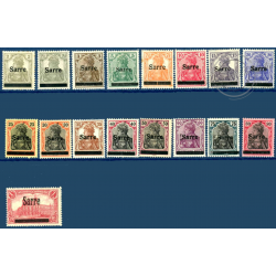 SARRE N°1 A 17 TIMBRES POSTE AVEC CHARNIERE