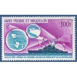 SAINT PIERRE MIQUELON POSTE AERIENNE N°_39 CROISEUR COLBERT 1967