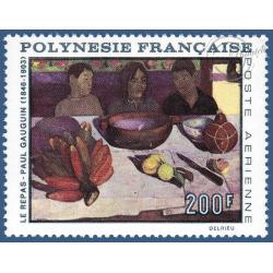POLYNESIE POSTE AERIENNE N°_25 TABLEAU LE REPAS DE PAUL GAUGUIN (1968)