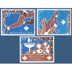 POLYNESIE POSTE AERIENNE N°_110 A 112 JEUX OLYMPIQUES MONTREAL 1976