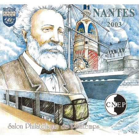 """BLOC CNEP N°_38a NON DENTELE """"NANTES 2003"""" LUXE"""