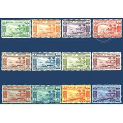 NOUVELLES-HÉBRIDES N°64 A 68 TIMBRES POSTE DE 1911 SURCHARGÉS, NEUFS* 1920