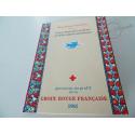 CARNET CROIX-ROUGE N°2010 OBLITÉRÉ 1ER JOUR, TIMBRES NEUF** DE 1961