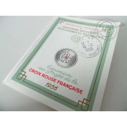 CARNET CROIX-ROUGE N°2005 OBLITÉRÉ 1ER JOUR, TIMBRES NEUFS** DE 1956