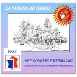 """EPREUVE FFAP N°1 """"CONGRES POITIERS 2007"""" NON DENTELE"""