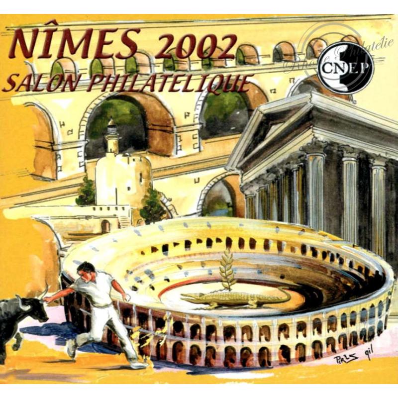 "BLOC CNEP N°_36a NON DENTELE ""NIMES 2002"""