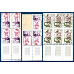 SERIE DE TIMBRES POSTE N°1257 A 1262 NEUFS** 1962