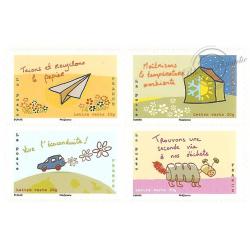 """CARNET """"AGISSONS POUR L'AVENIR DU CLIMAT"""" lettre verte BC965"""