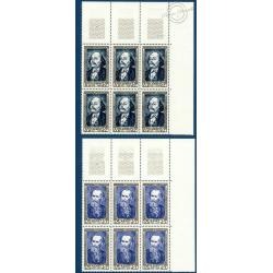 TIMBRES POSTE N°930-935 NEUFS** 1952 - SERIE THIERS BLOCS DE 6
