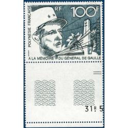 POLYNESIE POSTE AERIENNE N°_70 PORTRAIT GENERAL DE GAULLE (1972) LUXE