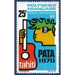 POLYNESIE POSTE AERIENNE N°_28 P.A.T.A. 1970 TAHITI (1969)