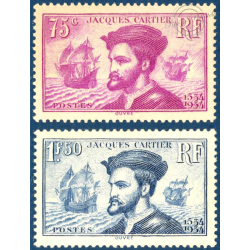 N°__296-297 JACQUES CARTIER TIMBRES NEUFS ** 1934