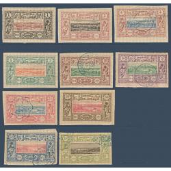 COTE DES SOMALIS N°6 A 17 SAUF N°14 et 16 VUES DE DJIBOUTI, TIMBRES 1894-1900