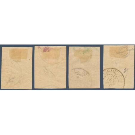 DIEGO SUAREZ N°_6 A 9 LITHOGRAPHIÉS, TIMBRES OBLITÉRÉS 1890