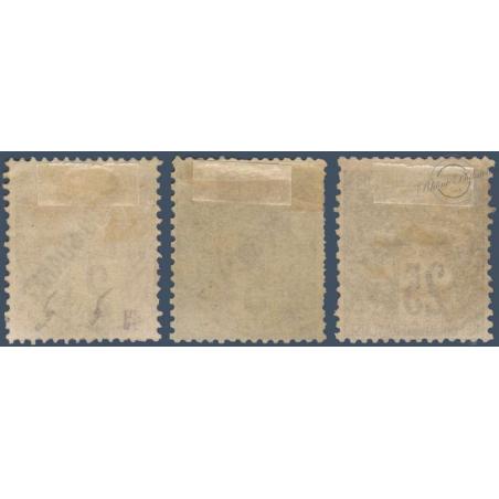 DIEGO SUAREZ N°_14-16-20 TYPE ALPHÉE DUBOIS SURCHARGÉS, 1892