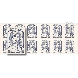 CARNET EUROPE MARIANNE BLEUE DE CIAPPA 12 TIMBRES