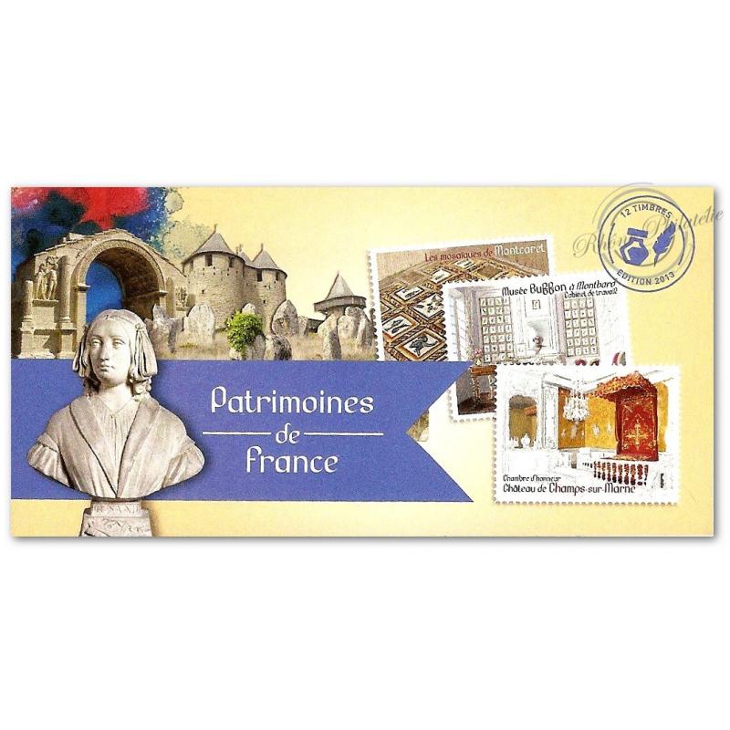 """CARNET """"PATRIMOINES DE FRANCE"""" COLLECTOR BC865"""