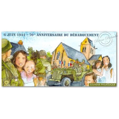 BLOC SOUVENIR N°_93 DEBARQUEMENT 70ème ANNIVERSAIRE 2014