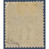 BENIN N°_1 TYPE ALPHÉE DUBOIS SURCHARGÉ, TIMBRE NEUF* 1892