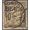 BENIN TAXE N°_2 SURCHARGÉE, TIMBRE OBLITÉRÉ 1894