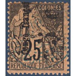 CONGO N°4a TIMBRE DES COLONIES FRANCAISES SURCHARGÉ, OBLITÉRÉ 1891-92