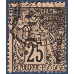 CONGO N°4Aa TIMBRE DES COLONIES FRANCAISES SURCHARGÉ, OBLITÉRÉ 1891-92