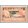 N°__257A EXPOSITION DU HAVRE 1929 TIMBRE NEUF *