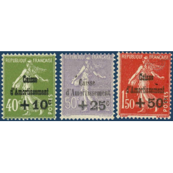 N°__275 A 277 CAISSE D'AMORTISSEMENT SERIE 3 TIMBRES NEUFS ** 1931