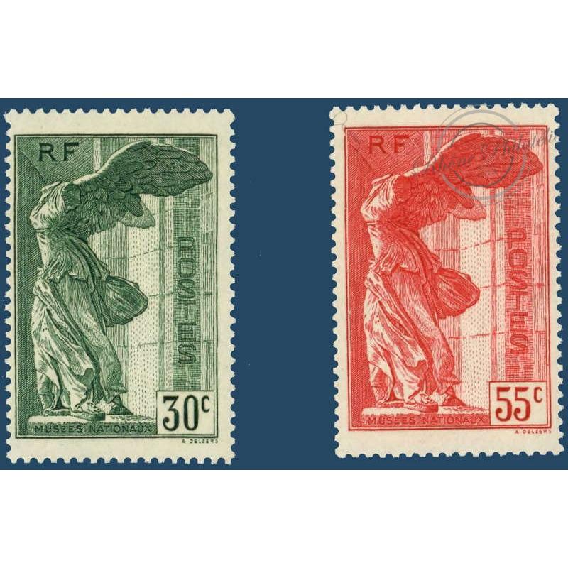 N°__354-355 VICTOIRE DE SAMOTHRACE, TIMBRES NEUFS ** 1937