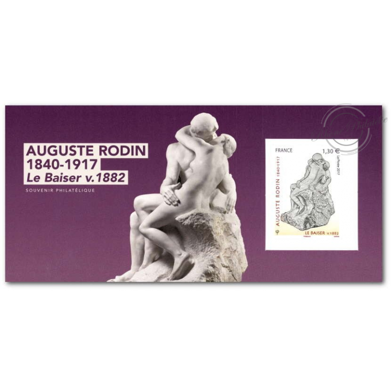 BLOC SOUVENIR LE BAISER - AUGUSTE RODIN 1840-1917