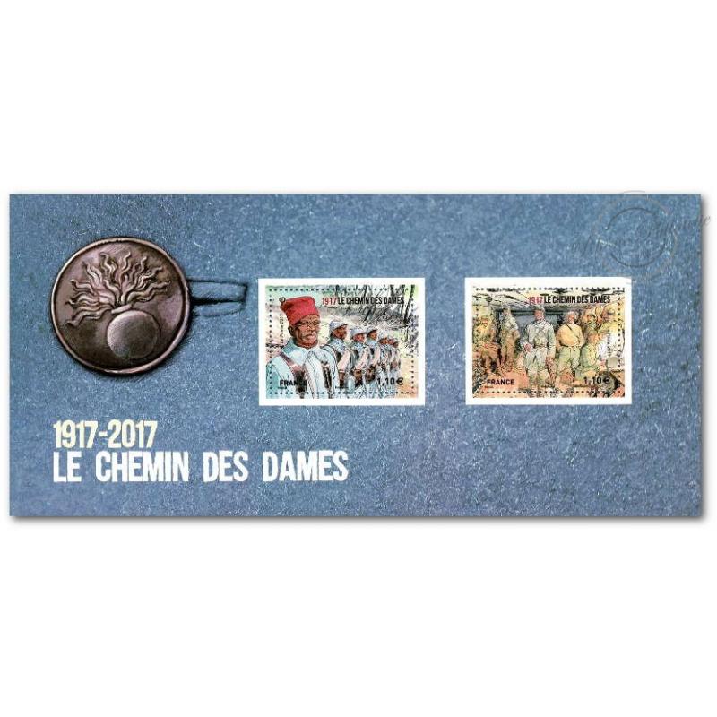 BLOC SOUVENIR CENTENAIRE DU CHEMIN DES DAMES 1917-2017