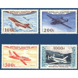 PA N°_30 A 33 PROTOTYPES, SÉRIE TIMBRES NEUFS** 1954